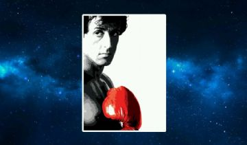 Rocky (Red Glove) Fridge Magnet. Pop Art. Stallone